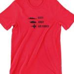 Navy Army Air Force Printed T Shirt