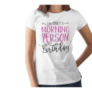 Moring Person Printed T Shirt  Women
