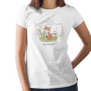 Smart Like A Fox Printed T Shirt  Women