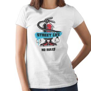 Street Life No Rules Printed T Shirt  Women