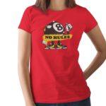 No Rules Printed T Shirt  Women