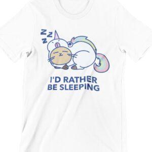Rather Be Sleeping Printed T Shirt