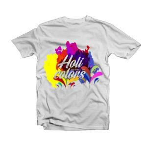 Holi Design T-Shirt -4
