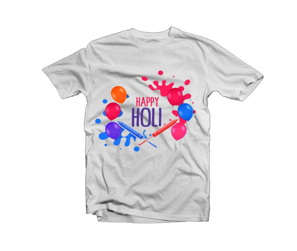 Holi Design T-Shirt -9